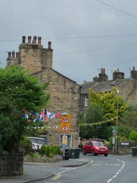 Cheerful bunting in Addingham